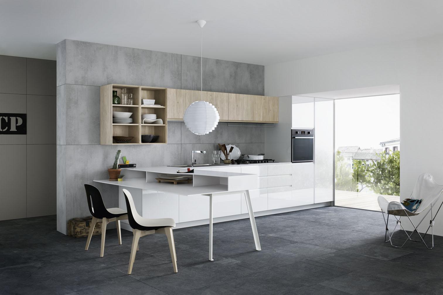 Kuhinje in jedilnice delovni otok in jedilna miza v enem - Cucine concreta ...