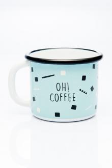 Emajlirani lonček Oh! coffee, www.smileconceptstore.si, 17,50 evra