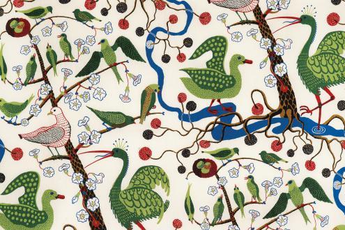 Vzorec Gröna Fåglar, Zelene ptice, si je Frank zamislil v svojem manhattanskem obdobju med letoma 1943 in 1945.