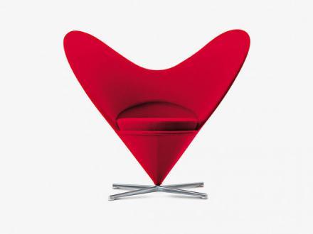 Naslanjač Heart Cone, oblikovanje Verner Panton, Vitra