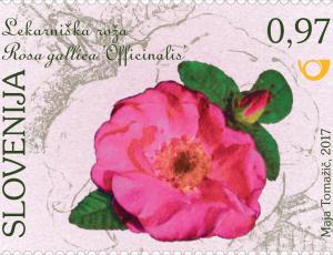 Znamke z motivi znamenitih vrtnic