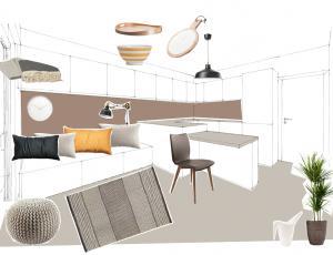 Stilska osvežitev: Kuhinja tudi za počitek