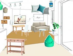 Stilska osvežitev: Počitniško stanovanje