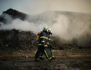 Požar v Novem mestu: Previdnost pri vrtninah