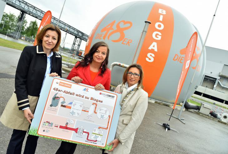 Ob otvoritvi obrata za pripravo bioplina. - Foto: Stadt Wien/Christian Jobst