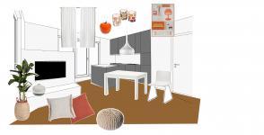 Stilska osvežitev: Delovno površino pridobimo s kuhinjskim otokom Slika 1