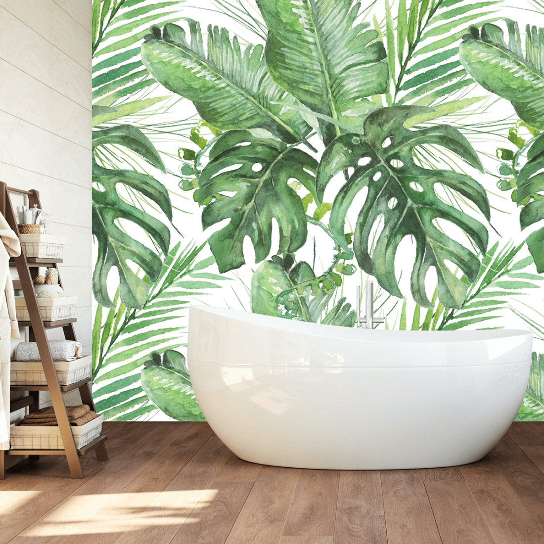 Tudi v kopalnici si lahko omislite tapeto z vpadljivim vzorcem, a naj bo iz materiala, ki je odporen proti vlagi. FOTO: arhiv Wall Coverings