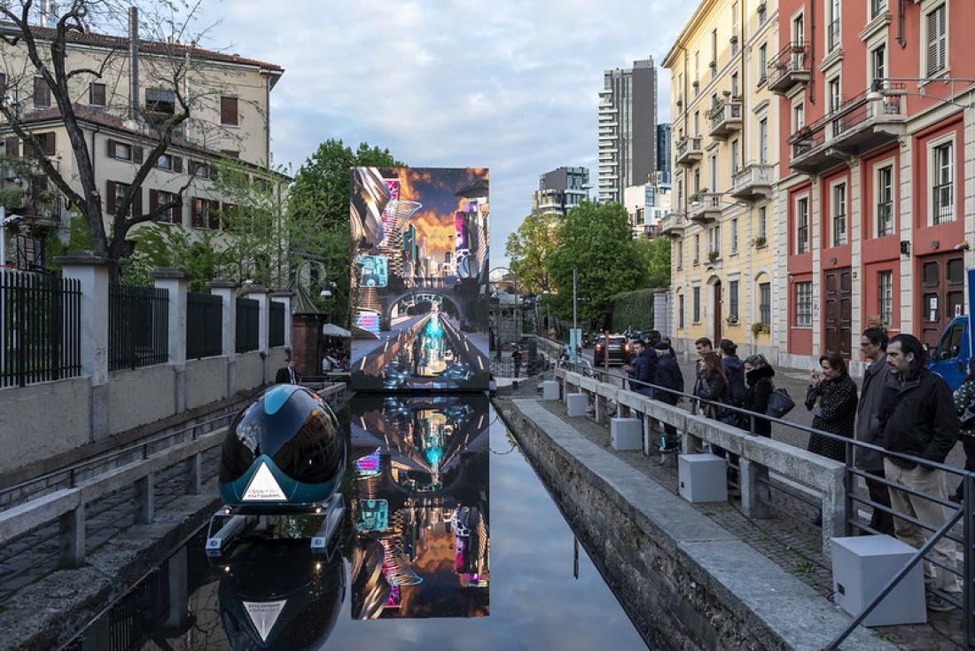 V času sejma se v središču Milano odvijajo številni dogodki in razstave, povezane z oblikovanjem. FOTO: arhiv Salone del Mobile