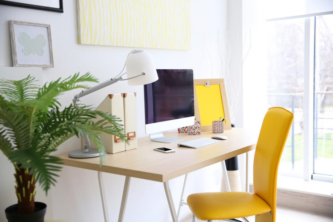 Za dodatno osvetlitev delovne mize izberemo namizno svetilo, ki ima nastavljivo jakost svetlobe. FOTO: Africa Studio/Shutterstock