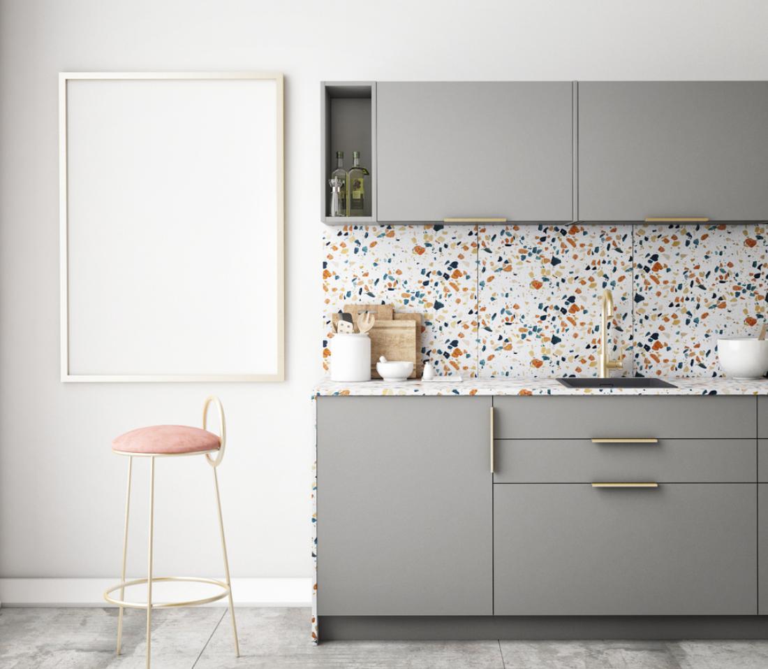 Teraco je primeren tudi za stensko oblogo. FOTO: DotExe/ Shutterstock