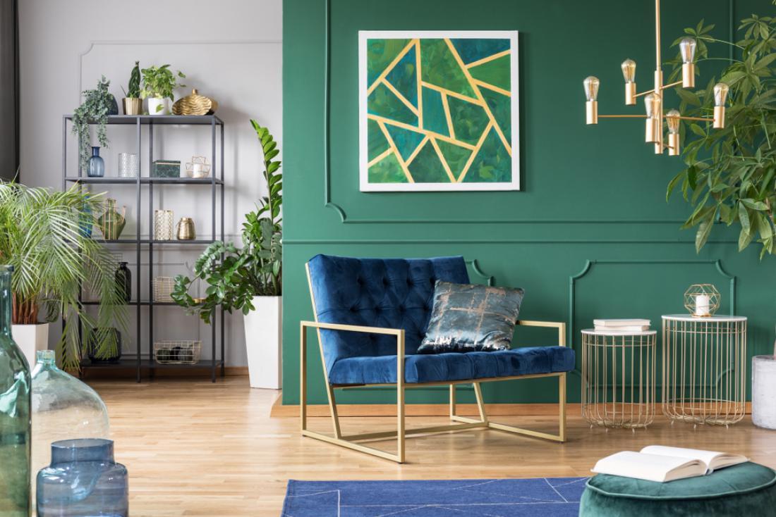S temno modro in zeleno boste ustvarili dramatični učinek. FOTO: Photographee.eu/ Shutterstock