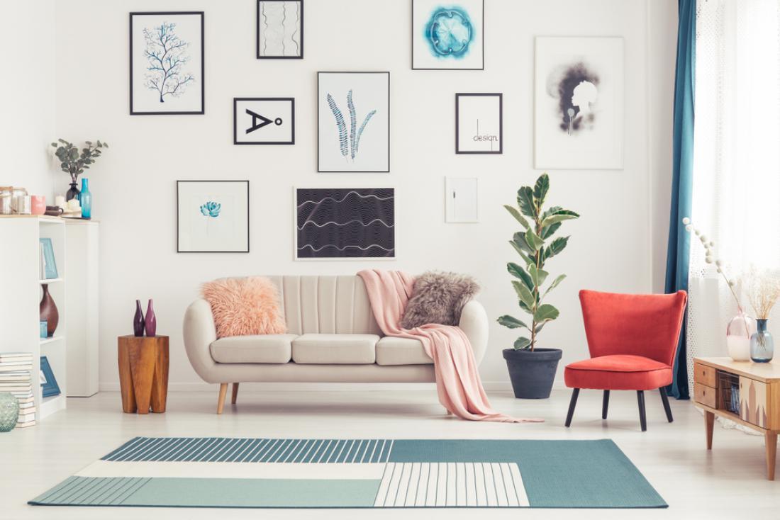 S preprogo zaokrožimo videz dnevne sobe. FOTO: Photographee.eu/ Shutterstock