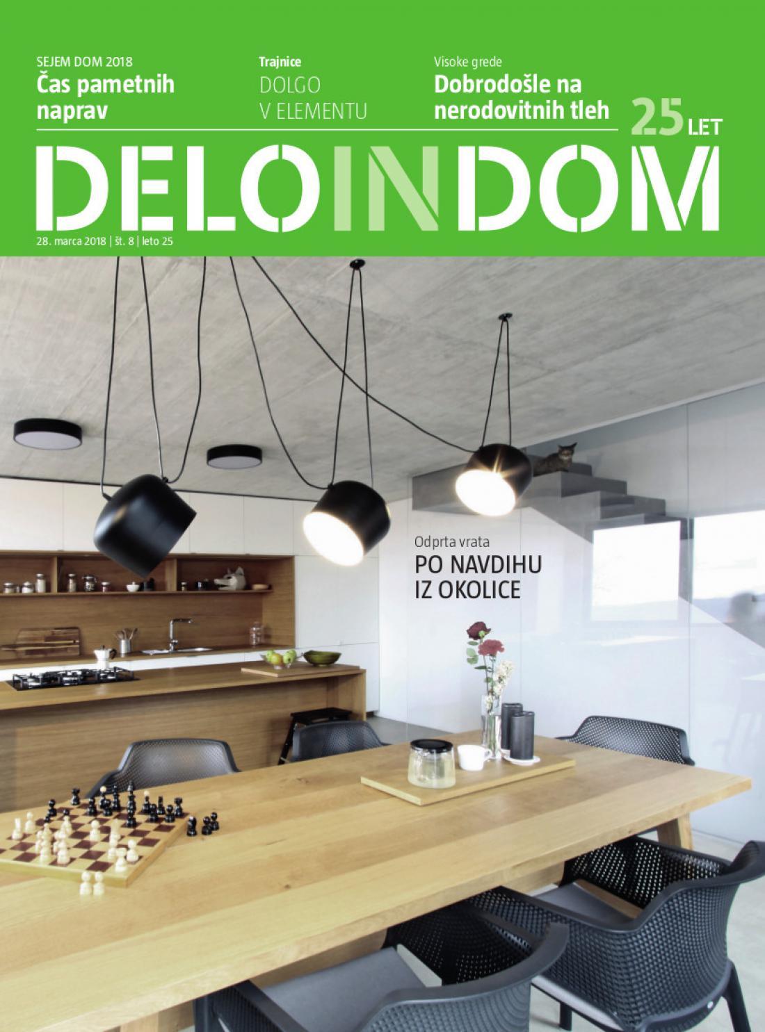 Naslednja številka priloge Deloindom bo Delu in Slovenskim novicam priložena 11. aprila 2018.