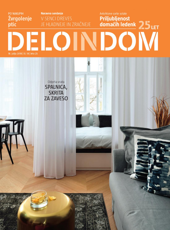 Naslednja številka priloge Deloindom bo Delu in Slovenskim novicam priložena 1. avgusta 2018.