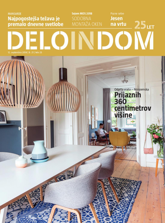 Naslednja številka priloge Deloindom bo Delu in Slovenskim novicam priložena 19. septembra 2018.
