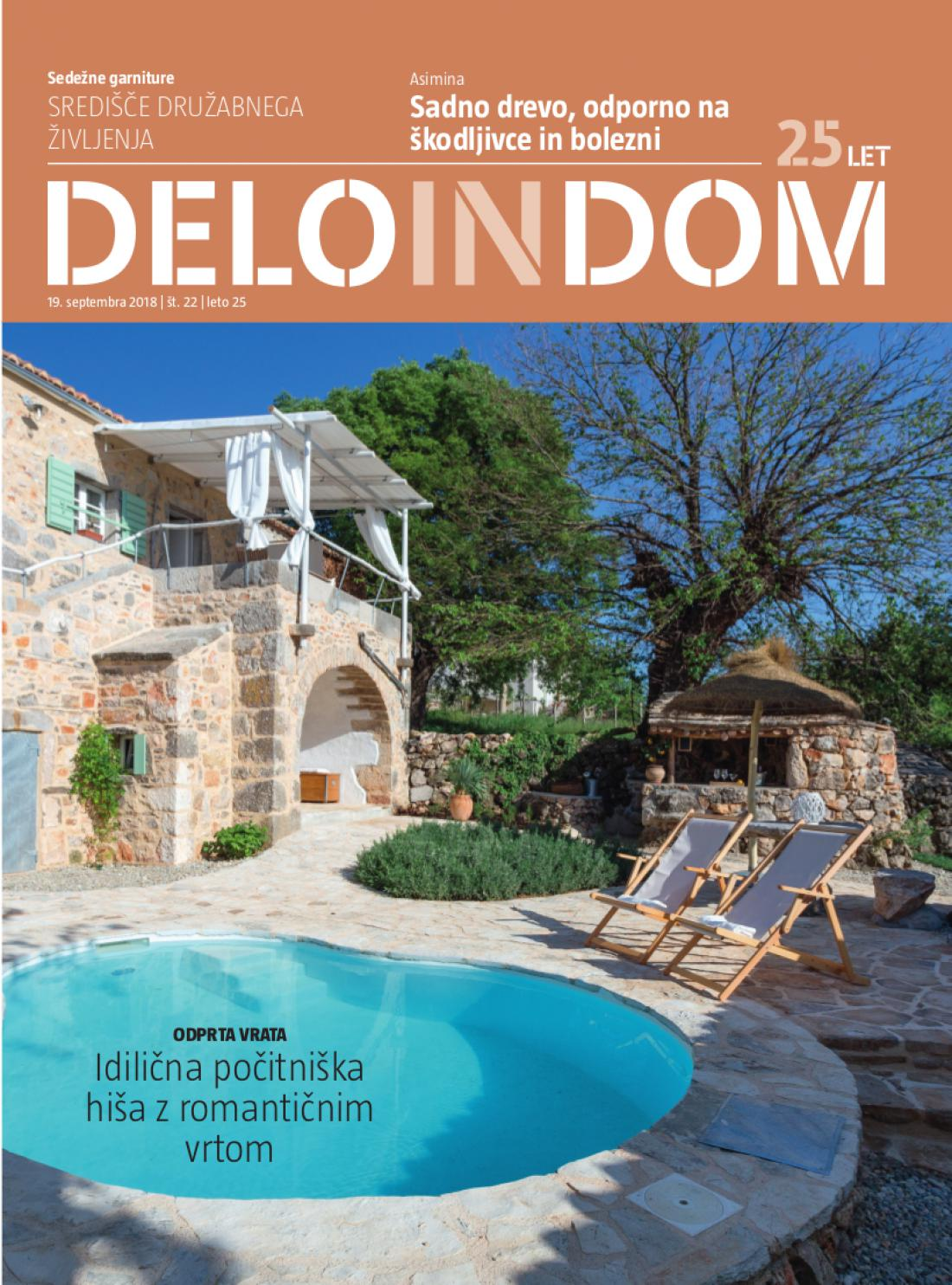 Naslednja številka priloge Deloindom bo Delu in Slovenskim novicam priložena 26. septembra 2018.