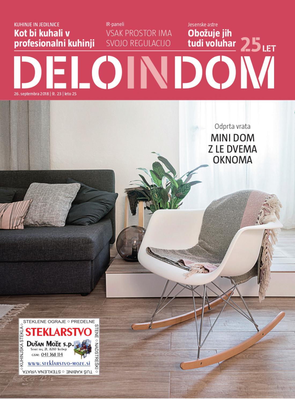 Naslednja številka priloge Deloindom bo Delu in Slovenskim novicam priložena 10. oktobra 2018.