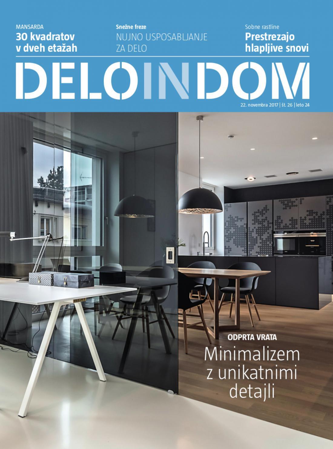 Naslednja številka priloge Deloindom bo Delu in Slovenskim novicam priložena 6. decembra 2017.