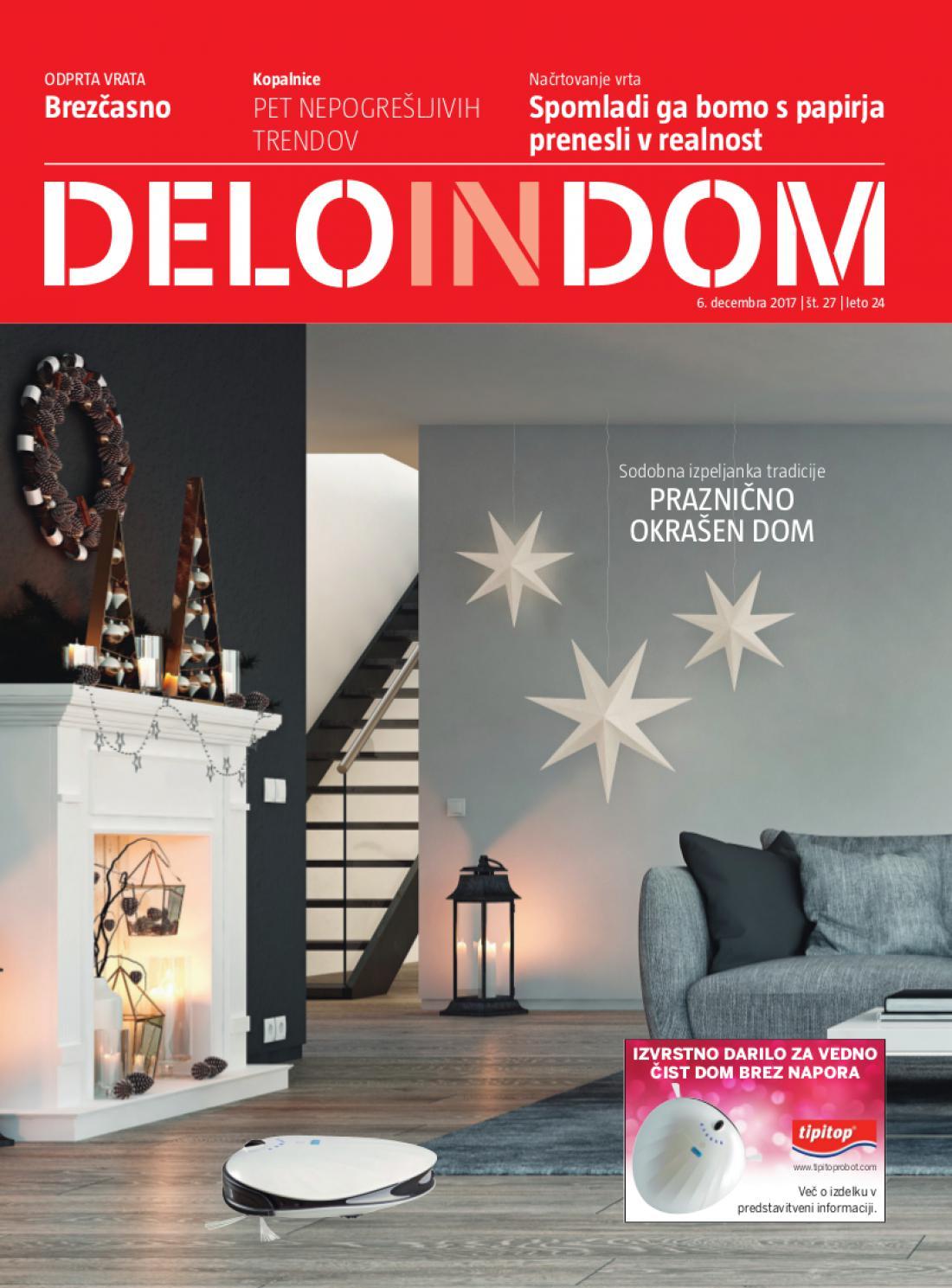 Naslednja številka priloge Deloindom bo Delu in Slovenskim novicam priložena 20. decembra 2017.