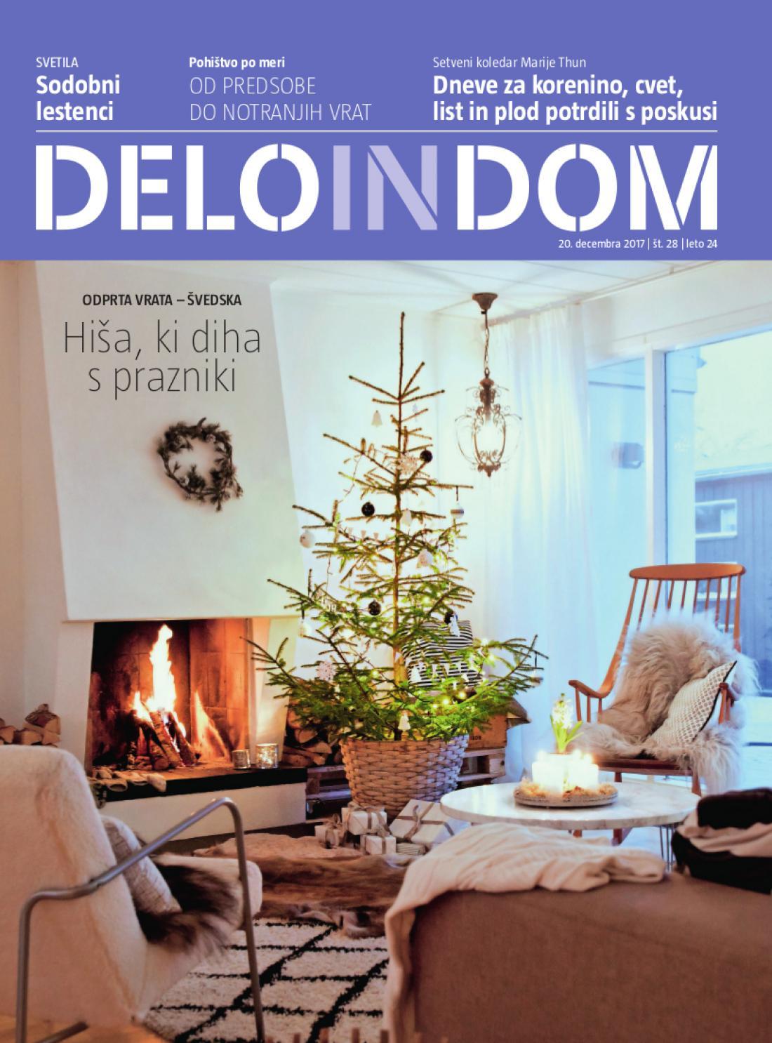 Naslednja številka priloge Deloindom bo Delu in Slovenskim novicam priložena 17. januarja 2018.