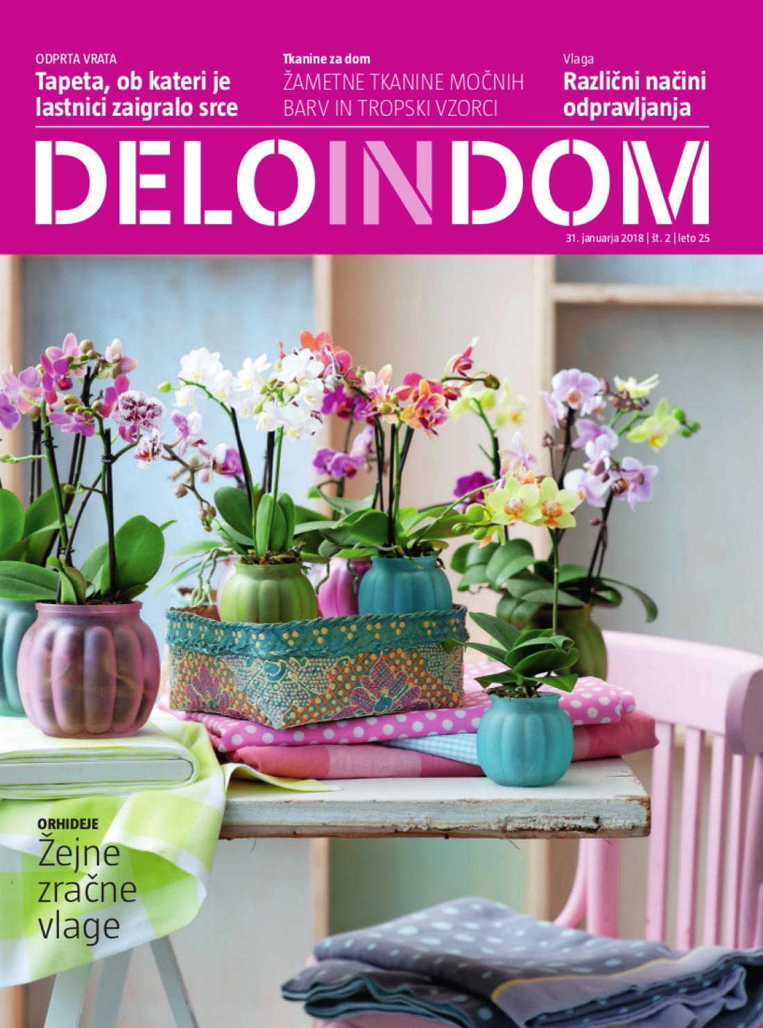Naslednja številka priloge Deloindom bo Delu in Slovenskim novicam priložena 14. februarja 2018.