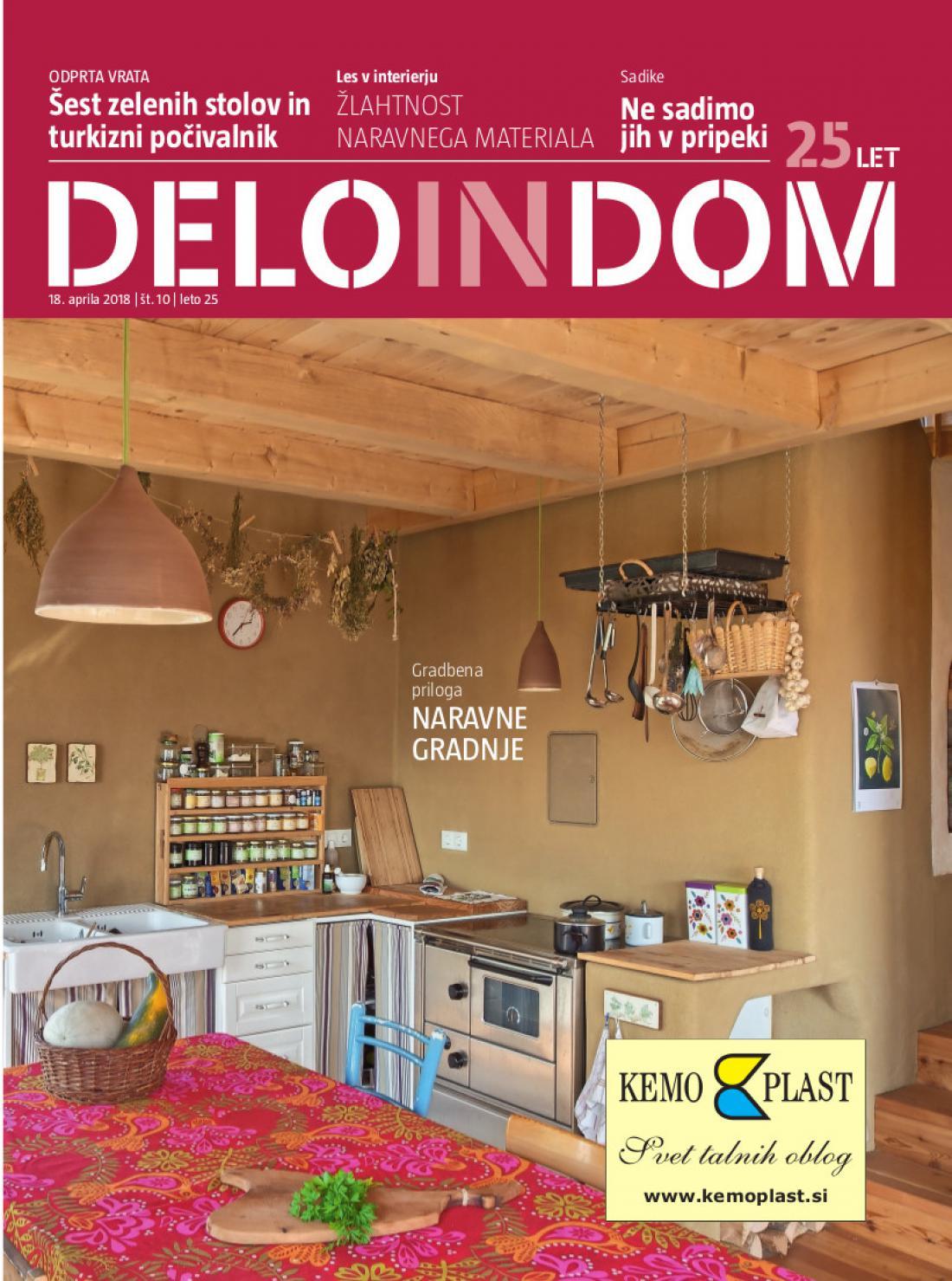 Naslednja številka priloge Deloindom bo Delu in Slovenskim novicam priložena 25. aprila 2018.