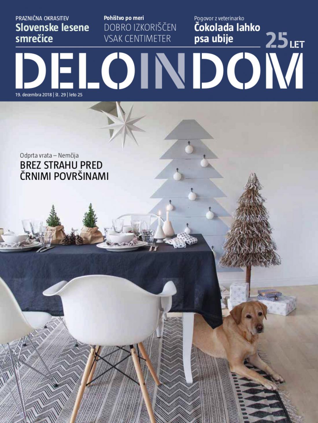 Naslednja številka priloge Deloindom bo Delu in Slovenskim novicam priložena 16. januarja 2019.