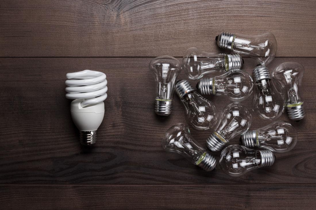 Pri porabi električne energije bomo bolj varčni tudi z zamenjavo starih, potratnih žarnic z varčnimi sijalkami. Te uporabljamo predvsem tam, kjer dolgo potrebujemo umetno razsvetljavo.