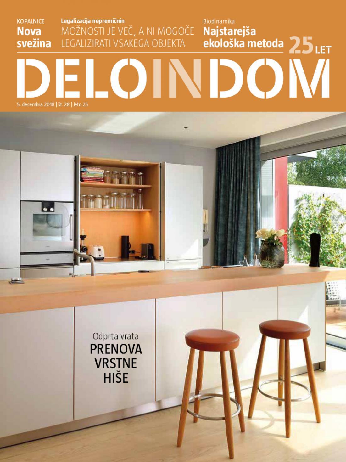 Naslednja številka priloge Deloindom bo Delu in Slovenskim novicam priložena 19. decembra 2018.