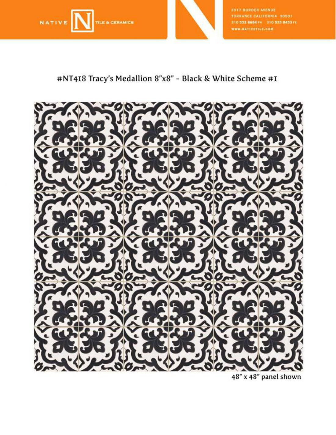 Črno-bele keramične ploščice, ki krasijo kuhinjska tla v hiši Shonde Rhimes. (Foto: Native Tile & Ceramics/Facebook)