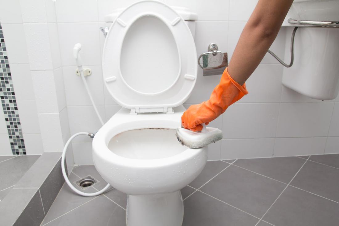 Najbolj neprijeten del čiščenja kopalnice je zagotovo straniščna školjka. Foto: Party people studio/Shutterstock