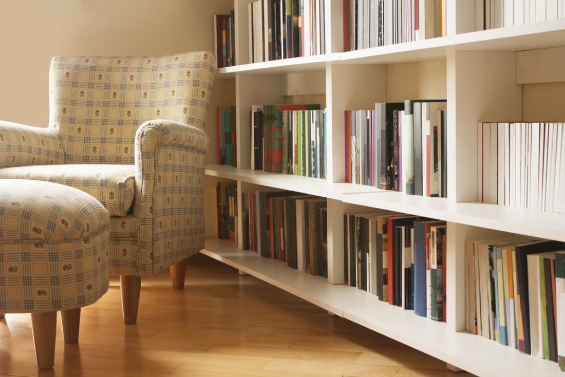 Knjižne police lahko organizirate po barvah, tematikah ali abecednem vrstnem redu. FOTO: Carla Nichiata/Shutterstock