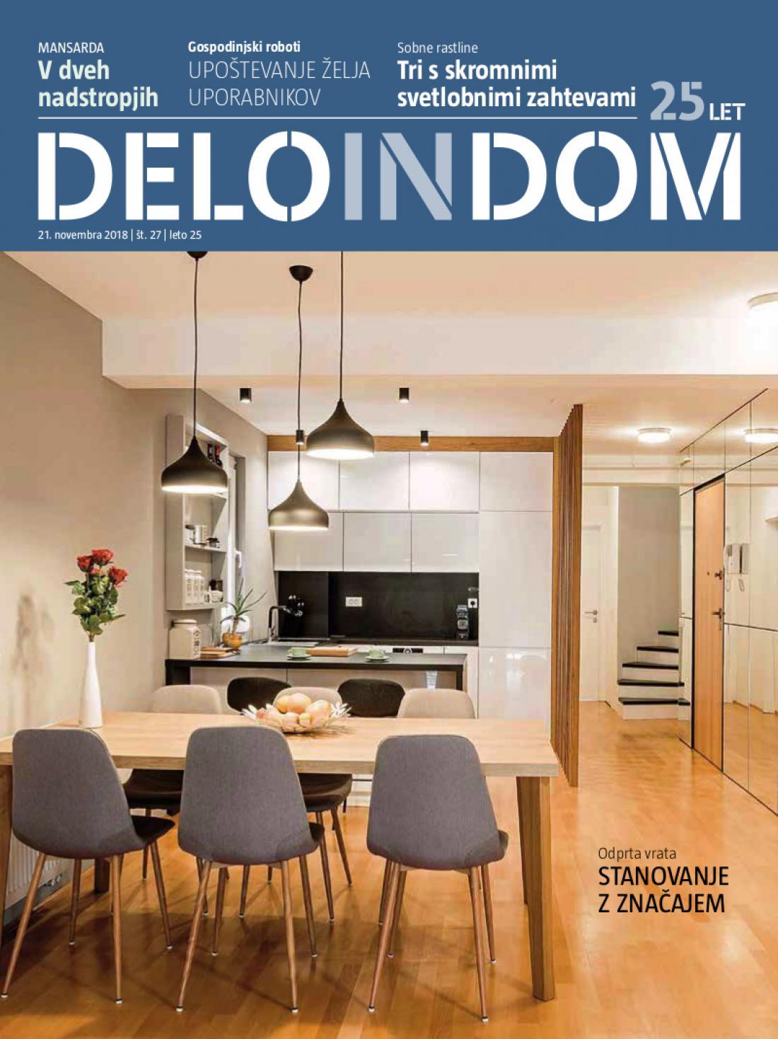 Naslednja številka priloge Deloindom bo Delu in Slovenskim novicam priložena 5. decembra 2018.
