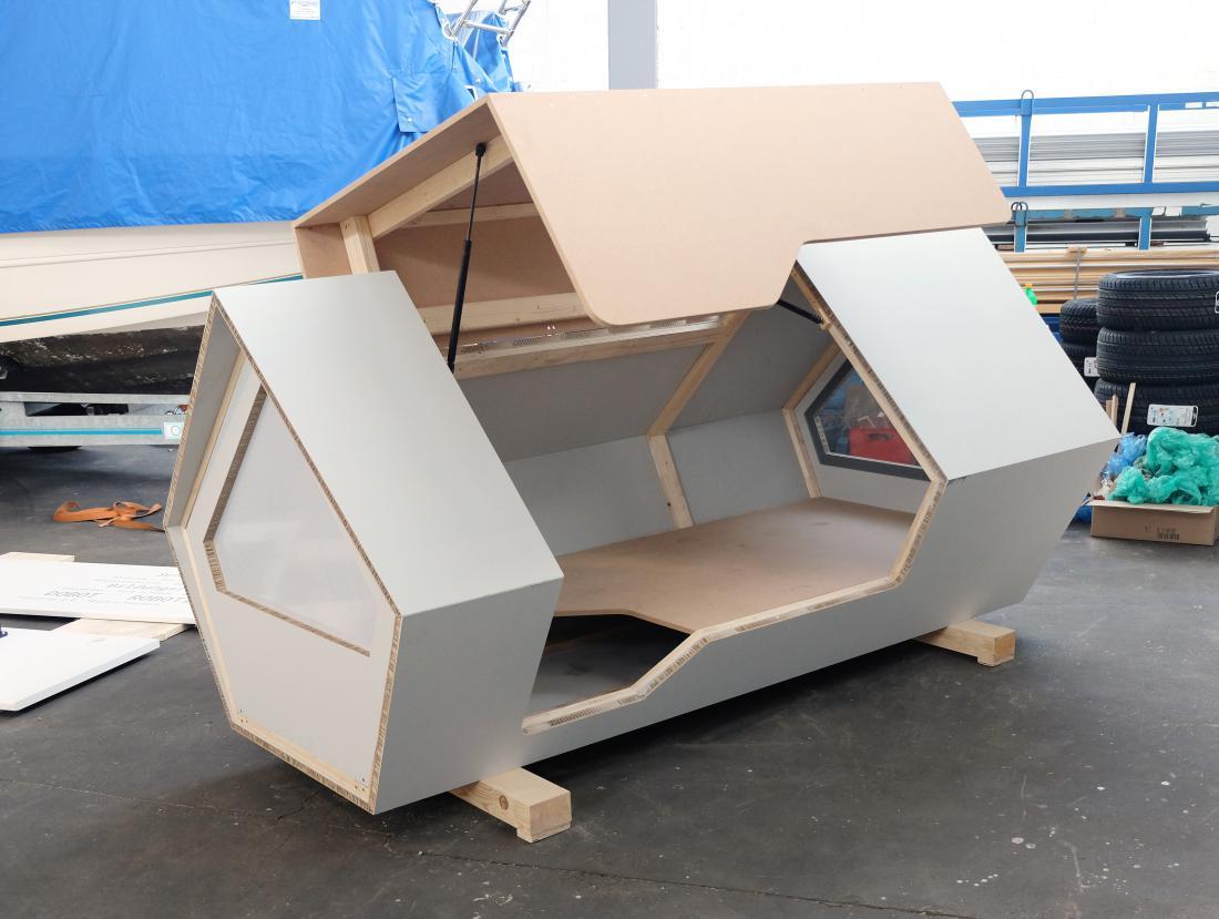 Prototip ene izmed kapsul. Foto: Ulmer Nest