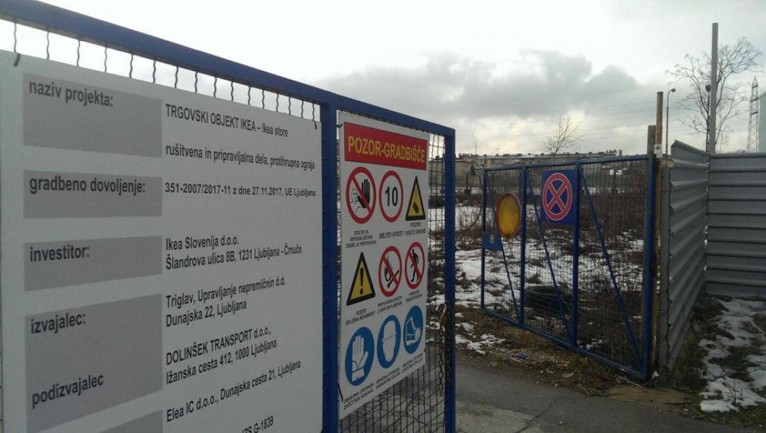 Gradbišče, kjer bo stala Ikea. FOTO: Aleš Stergar