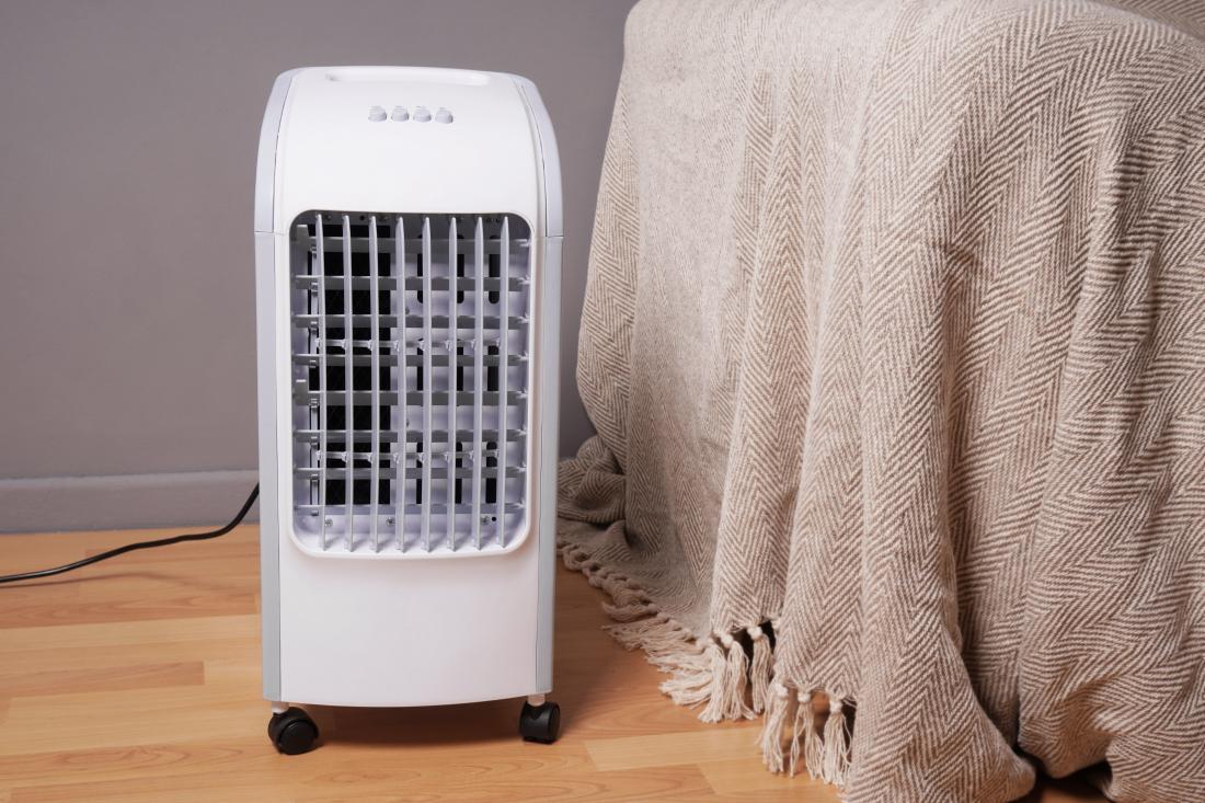 Ohlajevalniki zraka se umeščajo med ventilatorje in prenosne klimatske naprave. Delujejo s pomočjo vode ali ledu. Omogočajo tudi vlaženje zraka. FOTO: Axel Bueckert/Shutterstock