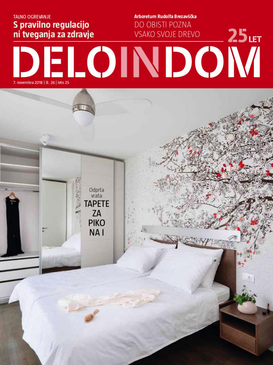 Naslednja številka priloge Deloindom bo Delu in Slovenskim novicam priložena 21. novembra 2018.
