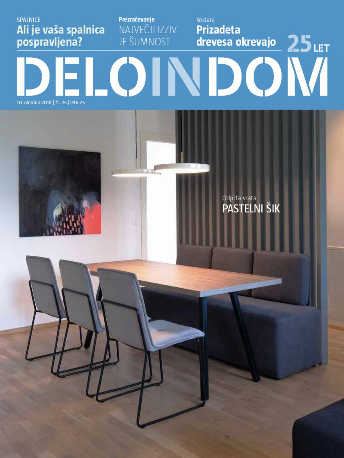 Naslednja številka priloge Deloindom bo Delu in Slovenskim novicam priložena 24. oktobra 2018.