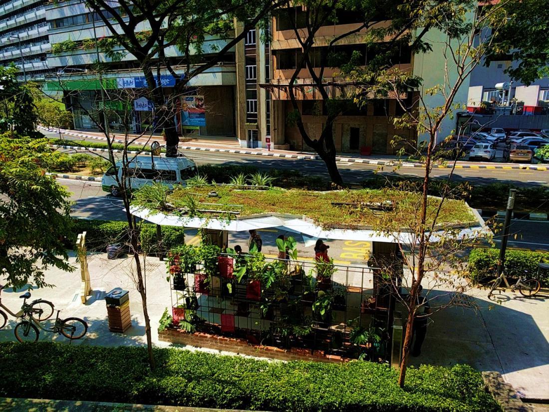 Zelene strehe na avtobusnih postajališčih v Kuala Lumpurju. FOTO: GWS Living Art