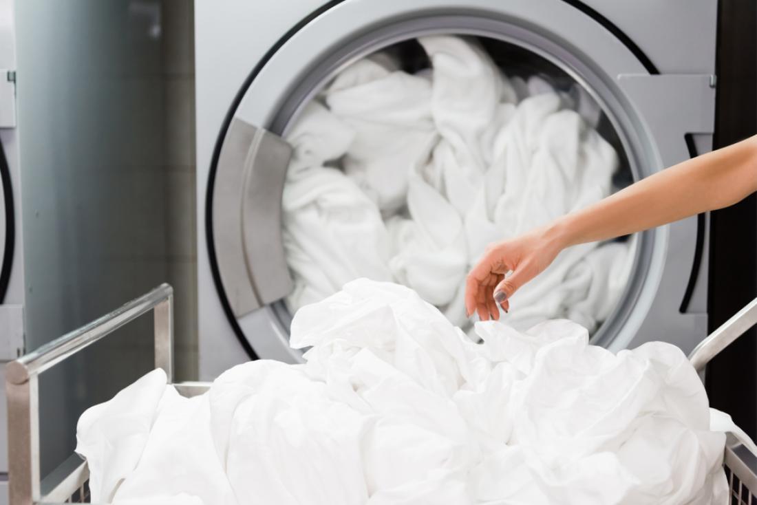 Izogibajte se pranju rjuh skupaj z brisačami.